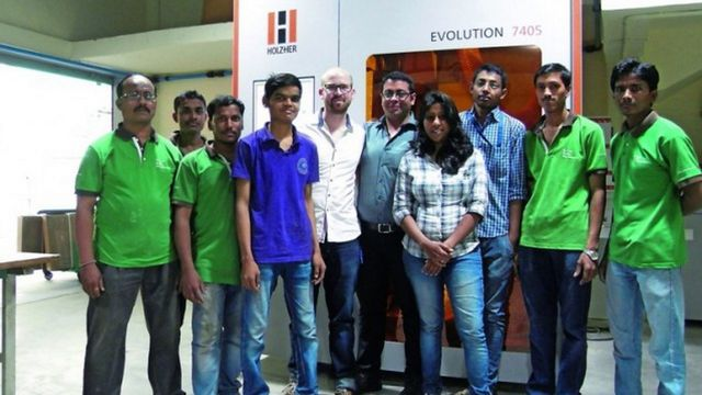 Referenze Holzher - Esperienze in India con macchina CNC e bordatrice