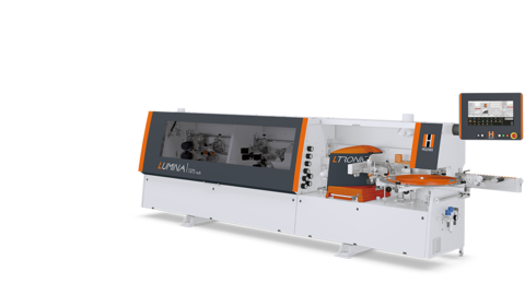 Edge banding machine LUMINA 1375 from HOLZHER - Laser edging and Glu Jet with PUR adhesive