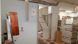 Vertical CNC machine from HOLZ-HER for cabinet processing