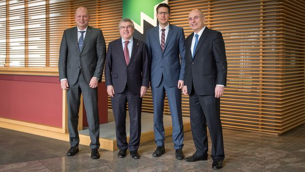 Photo from left to right: Gregor Baumbusch, Dr. Thomas Bach, Dr. Mario Kordt and Gerald Schmidt